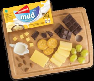 Keju Cheddar Block Emina Cheese Mild 170gram